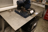 All to go - diamond plate top - saw horses - extra piece plate steel