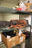 All to go - 3 shelves of hand tools, inventory and more - as is