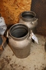Pair to go  stainless milk cans