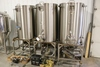 Custom Built Brewing 100-gallon (3-Barrel) stainless brew house w/ 100 gall