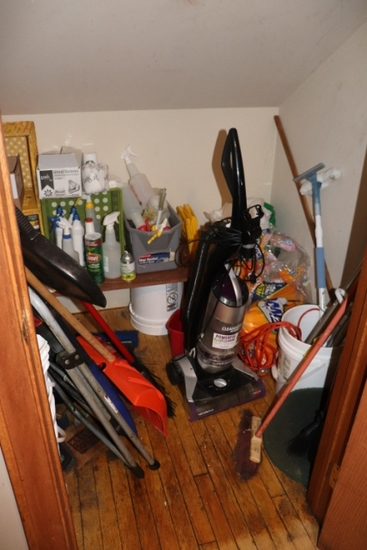 Closet to go - Vacuum, shovels, & cleaning supplies