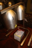 2 Bulb food warmer with extra bulb