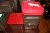 Times 4 - 8qt food storage containers with lids