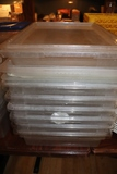 Times 7 - (1) 5gal & (6) 8.75gal acrylic storage containers with lids