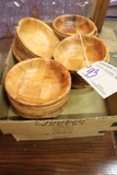 All to go - 2 box flats of wood salad bowls