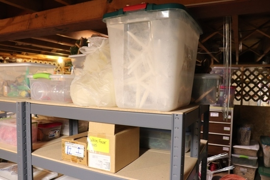 All to go - inventory on rack - sea shells & more
