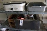 HB electric roaster, bus box, 12 x 20 food warmer, extension cords - as is