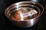 Times 3 - Stainless mixing bowls