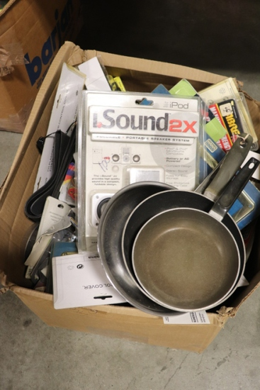 All to go - New Truck Stock Merchandise - pans, speakers, covers