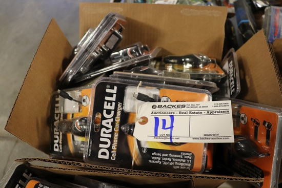 All to go - New Truck Stock Merchandise - Duracell phone chargers
