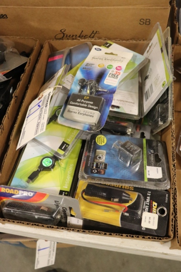 All to go - New Truck Stock Merchandise - ear phones, cigarette plugs