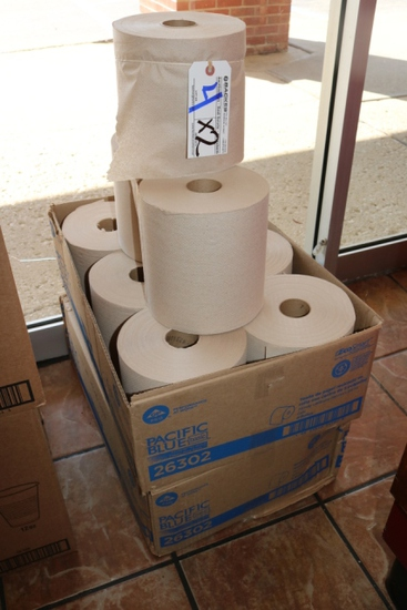 Times 2 - Cases of Pacific Blue paper towel rolls