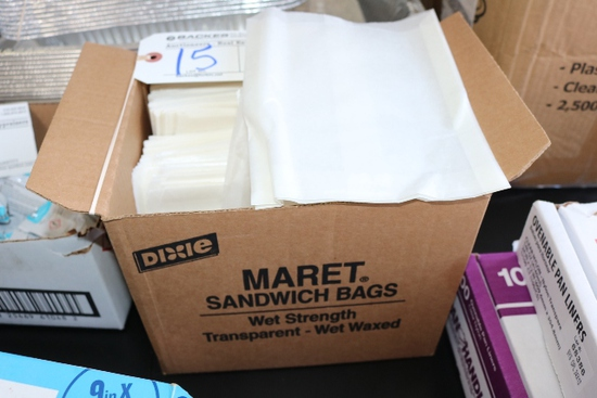 3/4 case of Dixie Maret sandwich bags