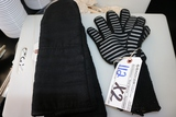 Times 2 - Sets of oven mitts & insulated gloves