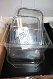 Times 4 - Misc. pans - 1) glass baking pan, 1) 1/2 x 6
