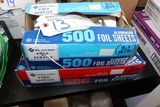 Pair to go - 2 - 1/2 boxes of aluminum foil sheets