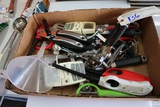 Box flat to go - Misc. kitchen small wares - can opener, thermometers, & mo