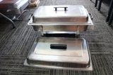Stainless 8 quart chaffing unit with extra lid
