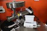 Weston 10-1201- W meat grinder with Weston cuber/tenderizer - also with stu