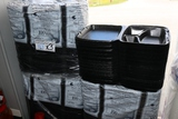 Times 3 - Sleeves black 3 compartment hinged foam to go containers