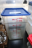 22 quart food storage container with lid