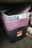Times 3 - Plastic storage containers with lids