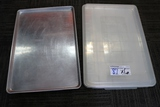 Times 6 - Full sized aluminum sheet pans with 3 lids