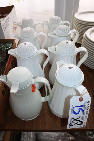 Times 8 - White thermal coffee pots