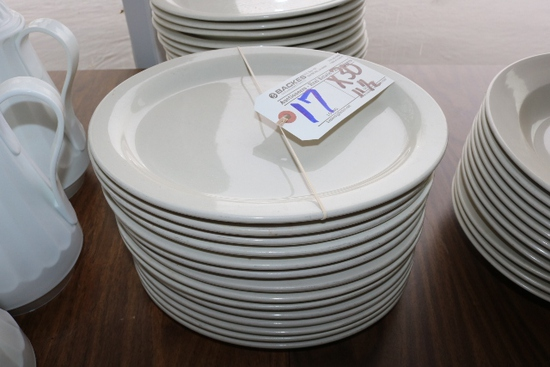 """Times 30 - 11 1/2"""" white platters"""
