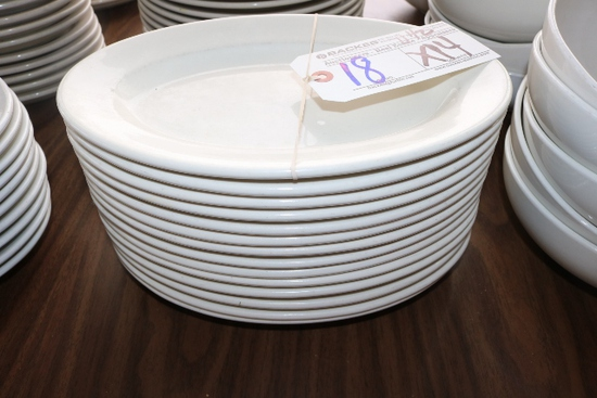 """Times 14 - 11 1/2"""" white platters"""