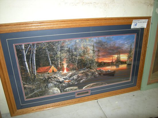 Twilight Fire Print by Jim Hansel framed 42 inches by 25 inches