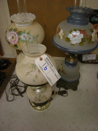 All to go- Electric Hurricane lamps