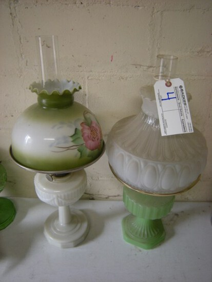 Pair Aladdin oil lamps