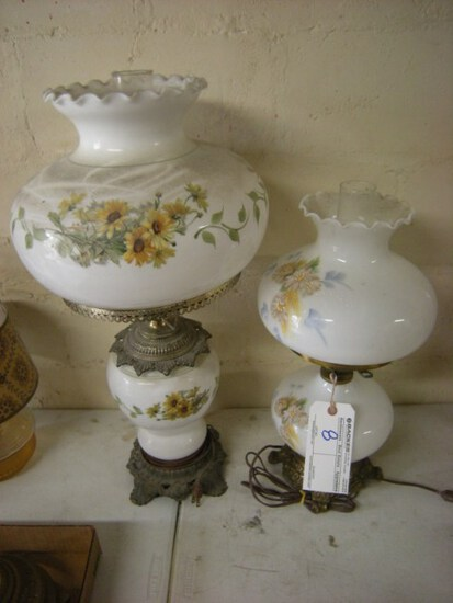Pair  Hurricane Electric lamps