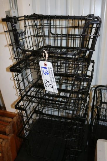 Times 8 - Black wire stackable baskets