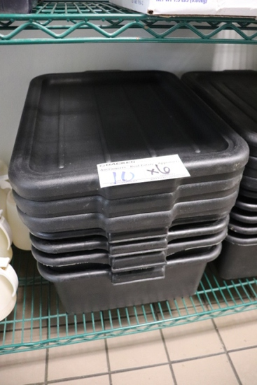 Times 6 - black buss boxes with lids