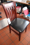 Times 16 - maple frame dining chairs with black padded seats