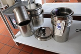 All to go - stainless insets and lids