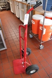 Red 2 wheel hand cart