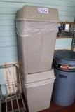 Times 2 - flip lid trash receptacles - 1 lid as is
