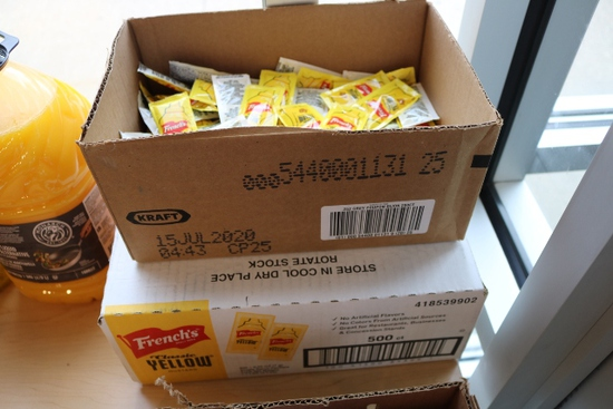 New case of 500 count French's mustard packets & 1/4 case