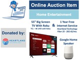 Donation from Heartland Technology - Home Entertainment