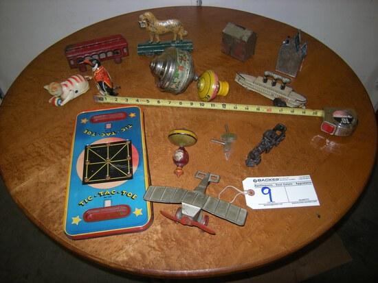 All to go  Tin toys