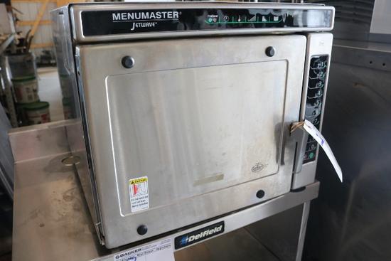 Menu Master Jetwave Microwave - Damage on Interior Door