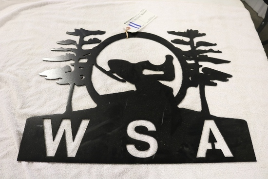 WSA Steel Snowmobile Sign