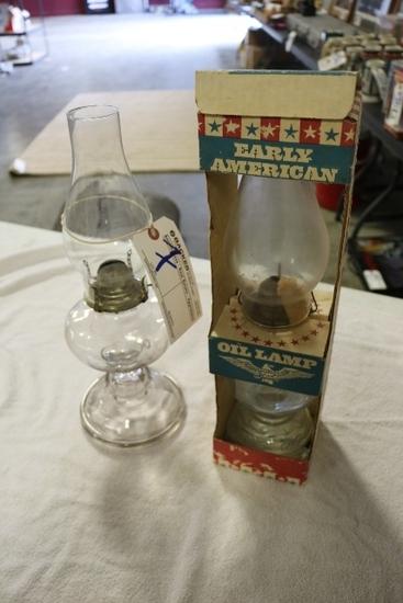 2- Oil Lamps- White flare light Co. Grand Rapids, Michigan