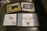 Misc. framed wall pictures - screw holes in frames
