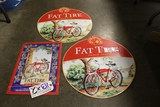 Times 3 - Fat Tire metal wall tins