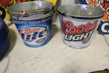 Times 5 - Coors Light and Miller Lite metal pails