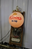 Hamm's on tap lighted wall sign